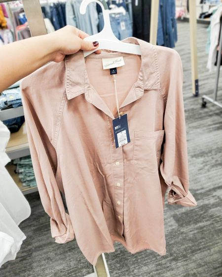 Raglan button down shirt cokes in different colors, runs a little big almost oversized, size down if you want to tighter fit $20, target looks, fall outfits, teacher outfits, back to school looks, work wear, targetfavefinds  #ltkstyletip #ltkunder50