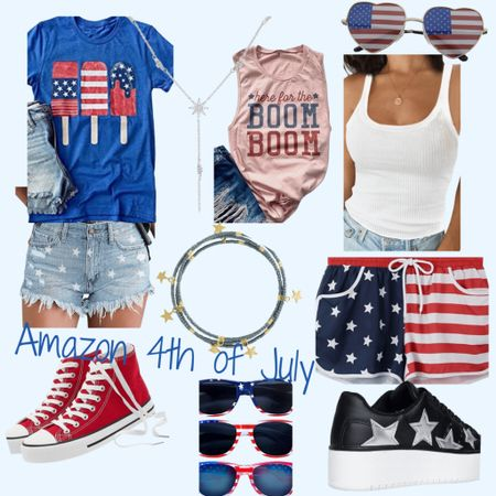 http://liketk.it/3iyn9 #liketkit @liketoknow.it #LTKsalealert #LTKstyletip #LTKshoecrush #4thofjulypicks #4thoutfits #amazonfashion #holidaylook  Amazon for the win! They always have something to keep you festive for this 4th of July.  Found some cute outfits.  Most of them ship and arrive before the holiday.  Some items have to be purchased today in order to receive on time.   Price ranges: $11-$52