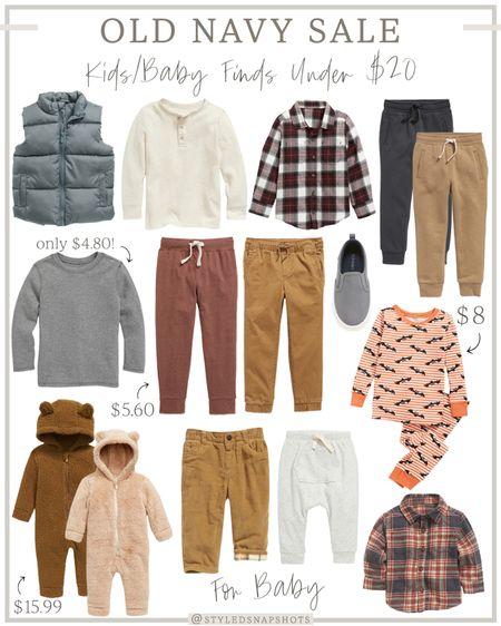 Old navy sale - up to 50% off // kids fall finds under $20 // toddler boy fall fashion   #LTKbaby #LTKkids #LTKsalealert