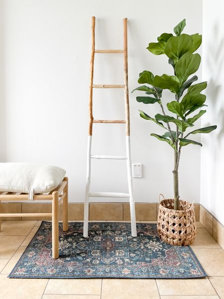 The cutest dipped ladder from Creative Co-op. Just $67 on Amazon.  #LTKhome #LTKunder100