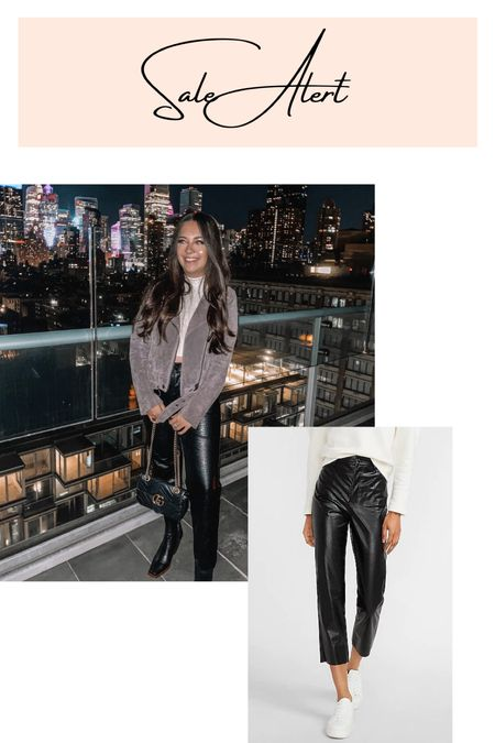 My favorite black faux leather pants from Express are 50% off today! Love the croc print and they're perfect to style in fall and winter!   #LTKSeasonal #LTKsalealert #LTKunder50