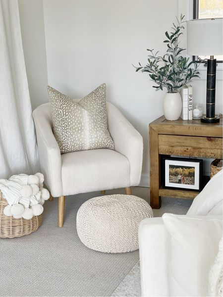 H O M E \ details of my new shearling barrel chair!! So cozy and an #amazon find!!🤍🤍🤍  #chair #bedroom #livingroom #sherpachair #amazonhome #amazonfind  #LTKhome