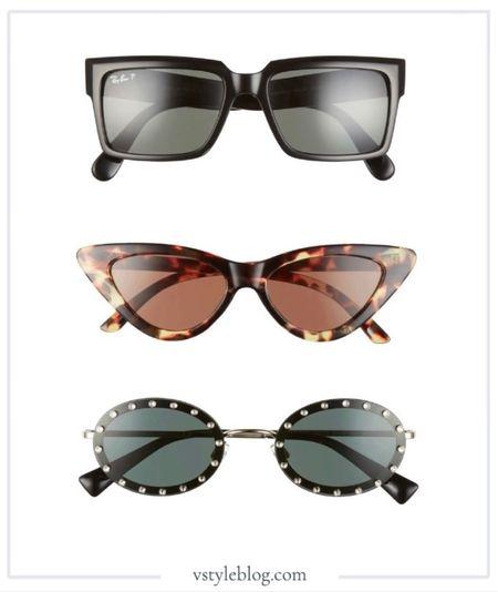 Nordstrom, Nordstrom Half Yearly Sale, Valentino, Ray Ban, Cat Eye Sunglasses, Polarized Sunglasses, Oval Sunglasses.   #LTKtravel #LTKsalealert #LTKstyletip