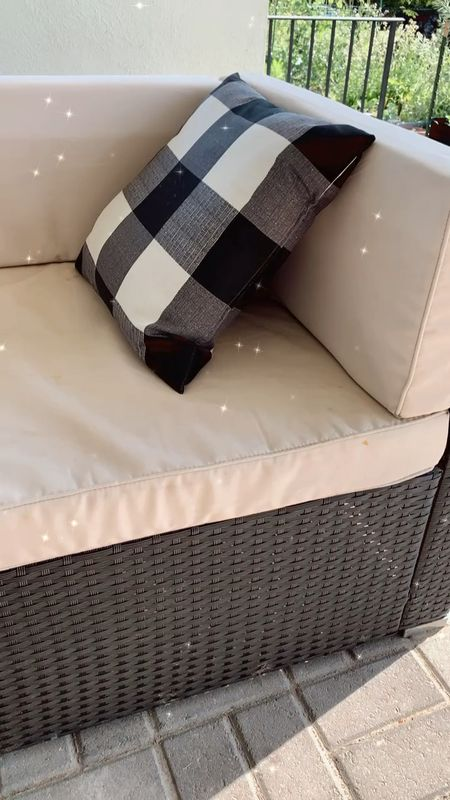 Amazon patio outdoor couch sectional affordable durable kid friendly! You'll need to adhere the cushions with Velcro or something similar, I've linked what we use.   #LTKSeasonal #LTKhome