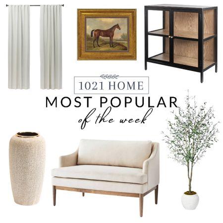 Home decor, cabinet, sofa, tree, vase, curtains, drapes, picture, art  #LTKSeasonal #LTKfamily #LTKhome