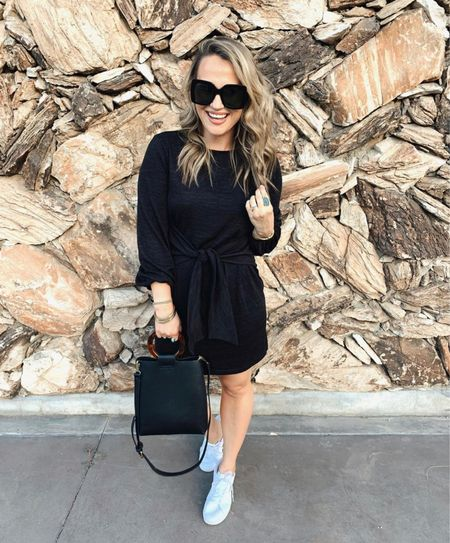 Amazon finds! This little black dress looks great with sneakers or dressed up for a work dress!   #LTKworkwear #LTKshoecrush #LTKunder50