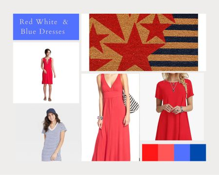 Cute, Causal and Cool. The three requirements for summer dresses.  These four all come in red, white and blue for your Fourth of July celebrations! #LTKunder50 http://liketk.it/3ipNB #liketkit @liketoknow.it