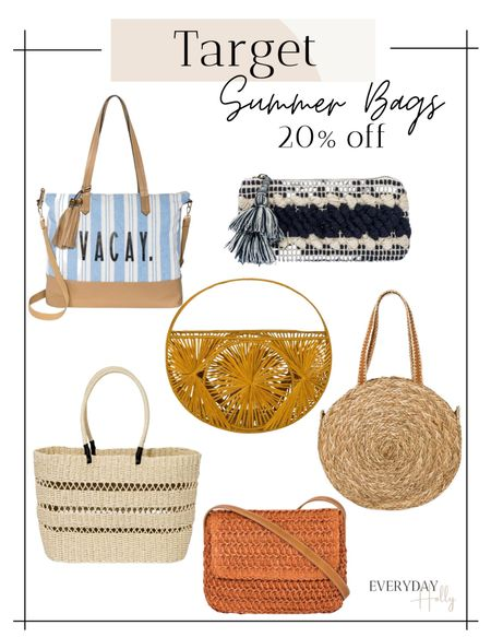 Summer totes // summer bags //20% off target handbags!  #LTKsalealert #LTKunder50 #LTKSpringSale