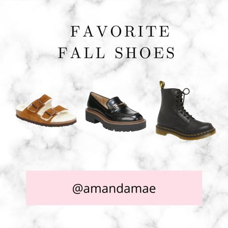 Favorite fall shoes- booties, loafers, doc martens, and more!  Size down on the docs if a 1/2 size. Whole sizes only. Size down on Sam Edelman loafers. Birkenstock's tts even with shearling   #LTKunder100 #LTKshoecrush #LTKstyletip