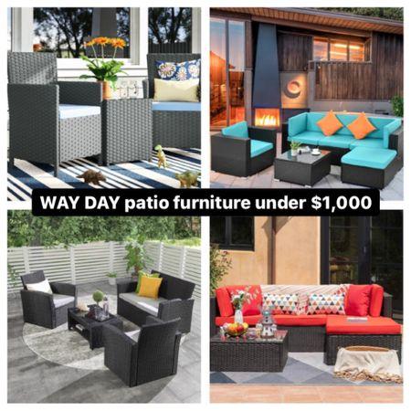 WayFair WAY DAY Sale!  Patio furniture on sale http://liketk.it/3e6md #liketkit @liketoknow.it #LTKhome #LTKsalealert