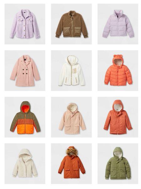 Coat season is upon us! These colors and styles are per-fect-ion. #target #catandjack #artclass #coats #winterwear  #LTKkids #LTKSeasonal #LTKfamily