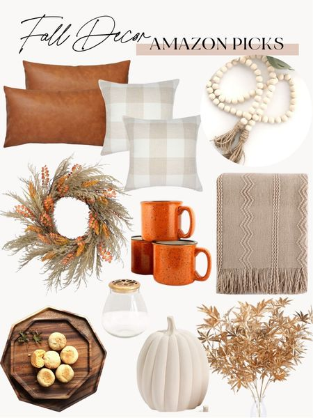 Fall home decor, amazon decor, fall amazon finds   #LTKunder50 #LTKhome