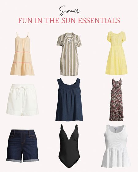 Having a few classic pieces for your summer wardrobe can go a long way. A classic black swimsuit, white shorts, denim shorts, a couple of tank tops and some dresses can get you through the entire summer season.   Follow me for more ideas and sales.   #LTKunder50 #LTKSeasonal #LTKstyletip
