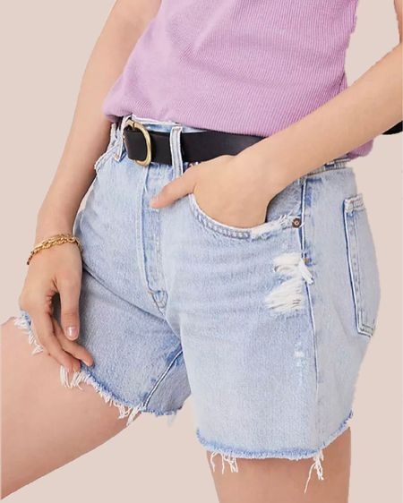 jean shorts, jeans, shorts, pants, casual, staples, bottoms, vacation outfits, summer outfits, anthropologie #LTKunder100 #LTKstyletip #LTKfit http://liketk.it/3hZ2n @liketoknow.it #liketkit