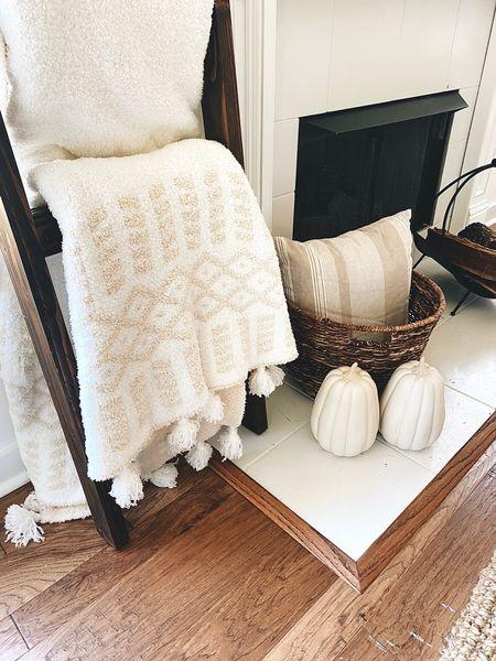 Fall decor // blanket // blanket ladder // cozy home decor   #LTKhome #LTKGiftGuide #LTKSeasonal