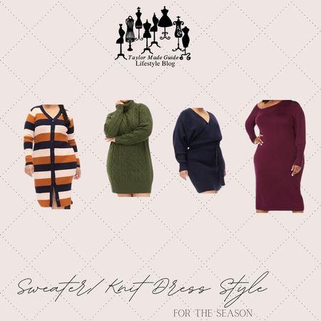 Tis the season for cozy sweater and knitwear. #sweaterdress #falldresses  #LTKSeasonal #LTKcurves #LTKstyletip