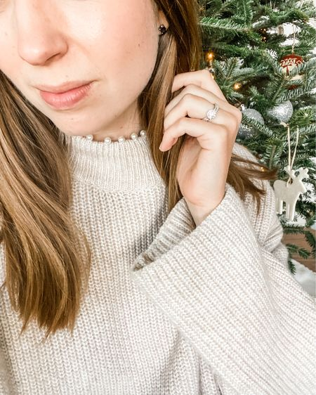 Pearl-detailed sweaters for a cozy, festive holiday look ✨ http://liketk.it/33XyU #liketkit @liketoknow.it #LTKunder100 #LTKstyletip #StayHomeWithLTK