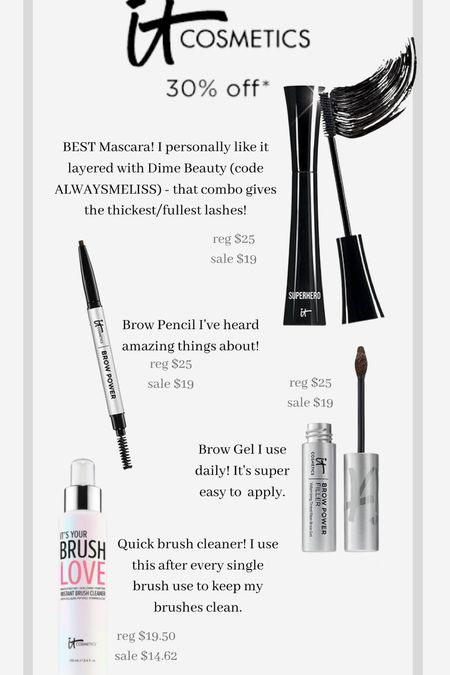 It cosmetics is part of LTK day!! They make the best mascara, brow products and quick makeup brush cleanser.   #LTKDay #LTKsalealert #LTKbeauty