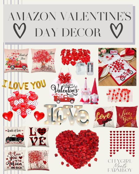 Amazon Valentine's Day Decor!❤️  City Girl Meets Farm Boy | #citygirlmeetsfarmboy @liketoknow.it.home #LTKSeasonal #LTKVDay #LTKhome @liketoknow.it #liketkit http://liketk.it/36SCg