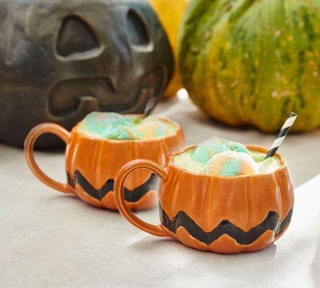 Fall home decor kitchen mugs pumpkins   #LTKSeasonal #LTKHoliday #LTKhome