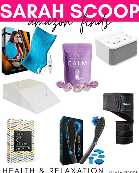 If you're juggling a laundry list of responsibilities and could use a relaxing spa day check out these health and relaxation products from Amazon! 🧖🏻♀️🛀  #MightyBliss#heatingpad#MightyBlissheatingpad#BigRedRooster#whitenoisemachine#MightyBlissCordlessMassager#Massager#EBungLegElevationPillow#ElevationPilloe#BraceforHip#BODYMATE#Sciaticapain#amazonfinds#Amazon#health#relaxation#selfcare#amazonproducts   #LTKGiftGuide #LTKSeasonal #LTKunder50
