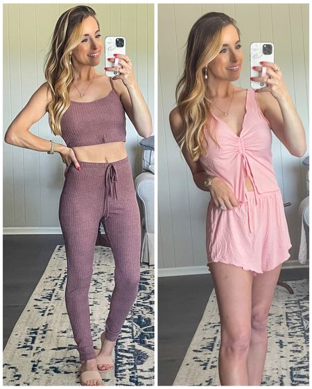 SHEIN Lounge and Pajamas  #shein #sheingal #lounge #loungewear #pajamas #pjs #comfystyle #pajamaset #waffleknit #workfromhome #wfh #comfy #cozy #LTKunder50 #LTKstyletip #LTKsalealert @liketoknow.it #liketkit http://liketk.it/3iEaz