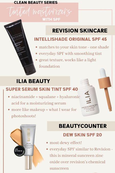 Clean beauty safer skincare tinted moisturizer with SPF great everyday natural makeup serum   #LTKunder50 #LTKbeauty #LTKunder100
