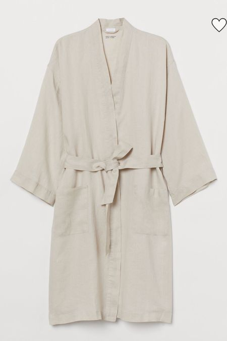 Cutest linen bath robe from H&M to wear around the house in the spring! Linen is such a great spring summer fabric! #LTKunder50 #LTKstyletip #LTKsalealert #liketkit @liketoknow.it http://liketk.it/395eG
