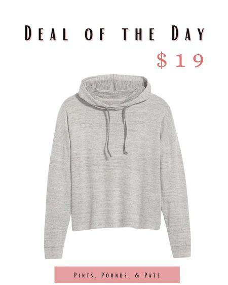 Cozy Old Navy pop over hoodie! Under $20! #athleisure  #LTKfit #LTKsalealert #LTKunder50