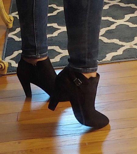 perfect little black bootie 😍  #LTKunder50 #LTKshoecrush