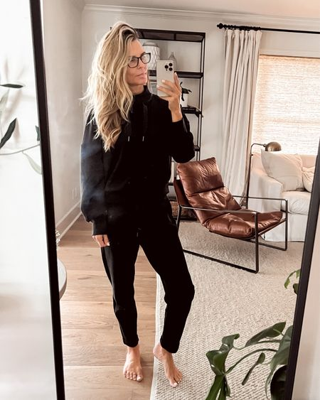 Spanx AIRLUXE fabric jogger set! Thus fabric breaths and will not over heat you! Top is sold out waitlist because they will restock. So chic to dress up or down.  USE CODE FASHIONEDLIFEXSPANX   #LTKunder100 #LTKSeasonal #LTKstyletip