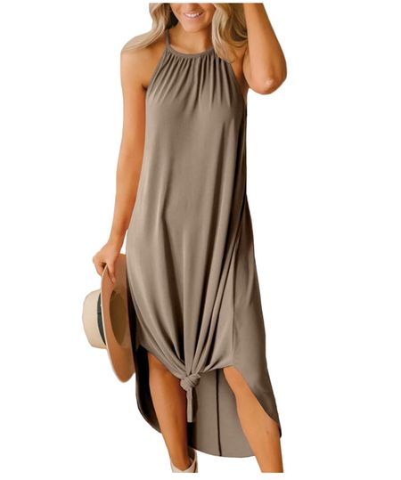 Vacation outfit. Perfect maxi dress for summer. Summer dress. Amazon find.   #LTKtravel #LTKstyletip #LTKunder50