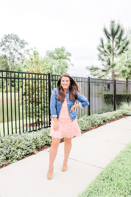 Another favorite dress - loving throwing a denim jacket over dresses for Spring!  This dress is on major sale for 30% off!!   http://liketk.it/3bU9m #liketkit @liketoknow.it   #LTKSpringSale #LTKsalealert #LTKunder50 Shop your screenshot of this pic with the LIKEtoKNOW.it shopping app