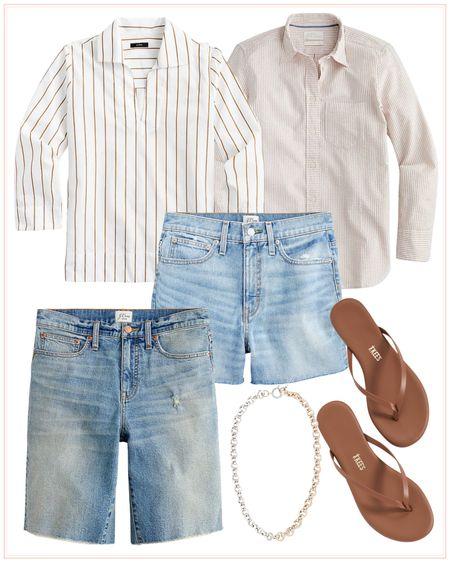summer outfit, denim shorts, vacation outfit, summer sandals, vacation look. http://liketk.it/3hTyT #liketkit @liketoknow.it #LTKsalealert #LTKtravel #LTKstyletip @liketoknow.it.family @liketoknow.it.home