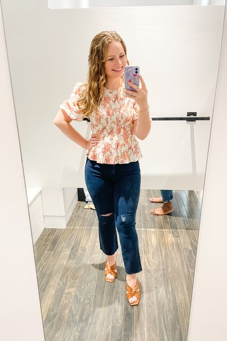 Express 40% off sale! Both the XS and S fit me in the top, but I went with S for a little more length. I normally wear a 2 in Express jeans, but they only had a 4.  #LTKstyletip #LTKunder50 #LTKsalealert