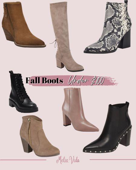 Fall boots from Nordstrom #boots #fallboots #booties #fallseason  #LTKSeasonal #LTKsalealert #LTKunder100