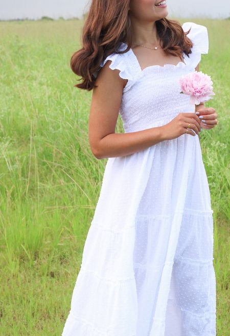 Hill house home Eli nap dress in a white sheer dot.  #LTKstyletip