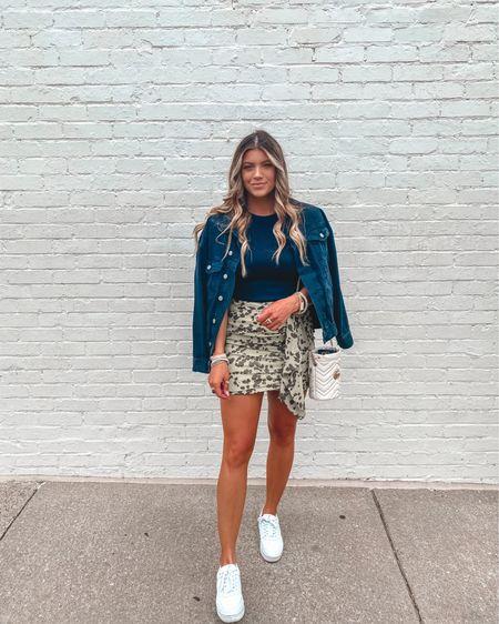 Today's post! Target tank- small under $10 Skirt- medium & on sale! Under $20 Shoes are TTS and under $15 Denim jacket & similar TTS  http://liketk.it/3hHDU #liketkit @liketoknow.it #LTKsalealert #LTKstyletip #LTKunder50