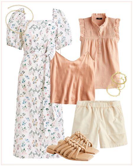 summer outfit, summer dress, wedding guest dress, summer tops, blouse, shorts, sandals, beach vacation, pool outfit, summer clothing. http://liketk.it/3hGUI #liketkit @liketoknow.it #LTKtravel #LTKshoecrush #LTKstyletip @liketoknow.it.family @liketoknow.it.home