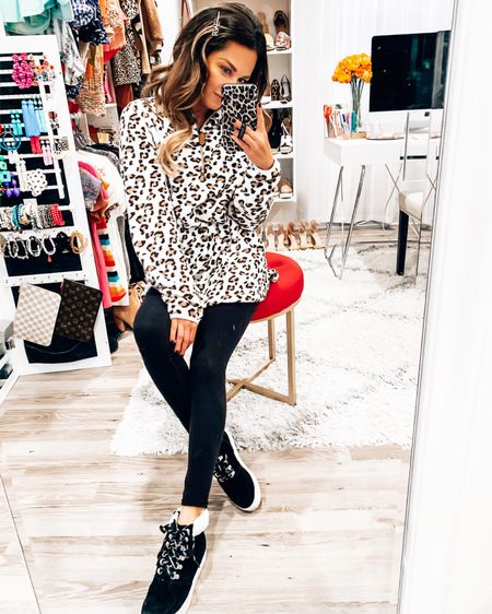 My leopard lovin' heart is doing backflips over this brand new @jessleaboutique exclusive! 😻 I wish y'all could just jump through your screen and come give me a big hug because it's so cozy! Be sure to use code SABBYSTYLE for a discount - link in bio!  - - -  http://liketk.it/2GBnl @liketoknow.it #liketkit