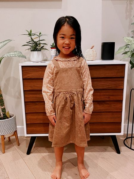Perfect fall outfit for little girls - great for fall family photos / actually comes with tights too!  Fall style    #LTKkids #LTKHoliday #LTKSeasonal