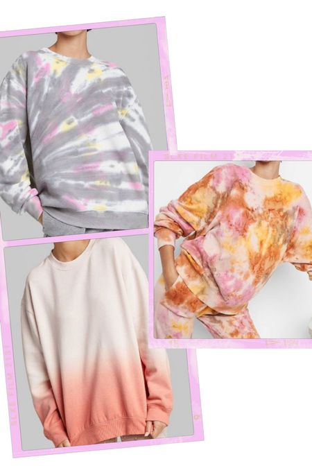 Valentine's Day outfits. Casual style. Tie dye. Oversized sweatshirts. Loungewear. Casual Valentine's Day outfit.   #LTKVDay #LTKunder50 #LTKstyletip