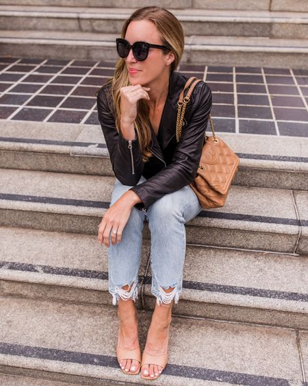 Leather Motorcycle Jacket, LTK Day, LTK Sale, LTKSale, LTK Early Gifting, LTK Day, LTK Fall Sale  My Madewell jacket is included in the LTK Sale. It's an investment, but if you're looking for a classic black moto, this is it. It runs true to size.