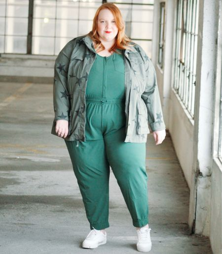 Suit up in this perfect green jumpsuit!   #LTKcurves #LTKunder50 #LTKstyletip