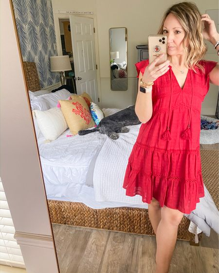 Perfect casual cute red dress just in time for Galentines Day ❤️ http://liketk.it/377Ex #liketkit @liketoknow.it