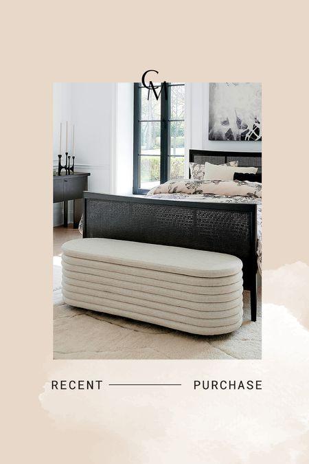 CB2 ivory storage bench. New home purchase   #LTKhome