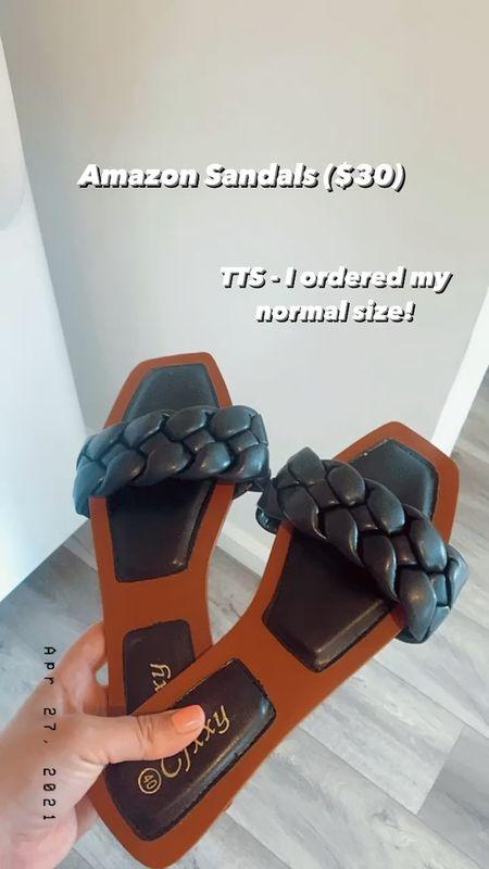 Amazon sandals run TTS and are $30, Amazon find, Amazon fashion, Amazon spring, Amazon summer, Braided sandals http://liketk.it/3e1jp #liketkit @liketoknow.it    #LTKswim #LTKunder50 #LTKunder100