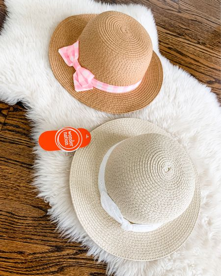 Cutest straw hats for little girls! 2-pack is only $11. They seem very well made. http://liketk.it/3gOZ2 #liketkit @liketoknow.it #LTKkids #walmartfashion