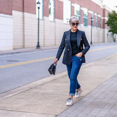 it's time to transition to fall with blue jeans and blazers.   #LTKstyletip #LTKSeasonal #LTKshoecrush