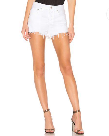 http://liketk.it/38jwD #liketkit @liketoknow.it agolde shorts on sale in white! #LTKunder50 #LTKunder100
